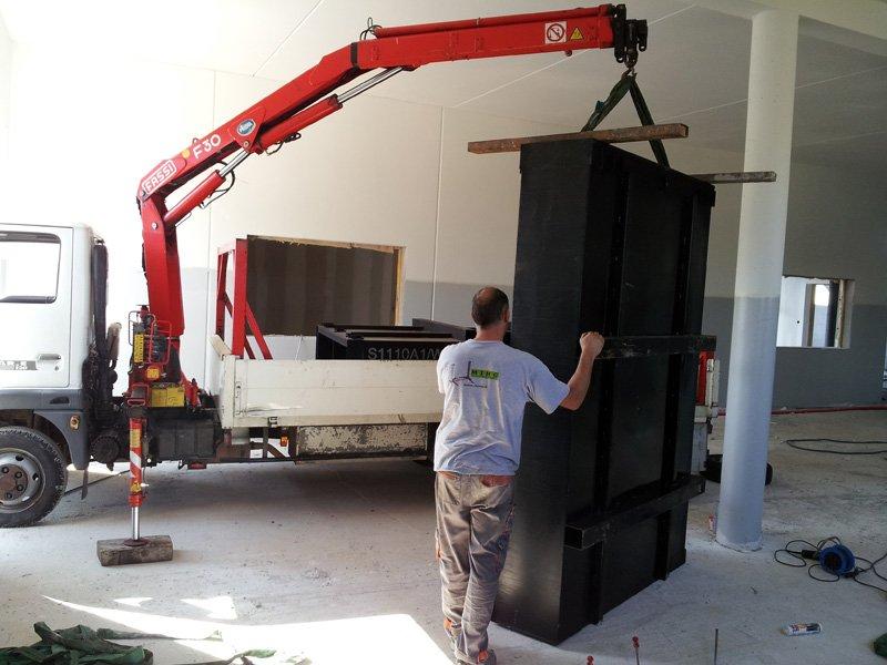 transport de matériel de garage
